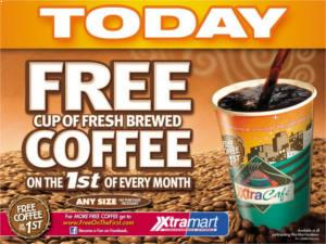 FREE Coffee at Xtra Mart