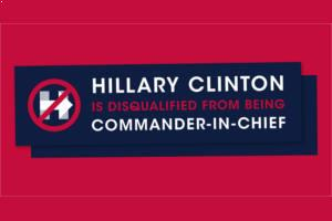 FREE Hillary Clinton is Disqualified Bumper Sticker