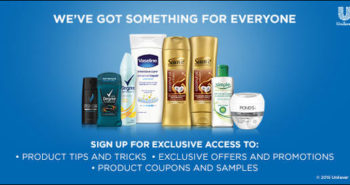 FREE Unilever Samples and Coupons