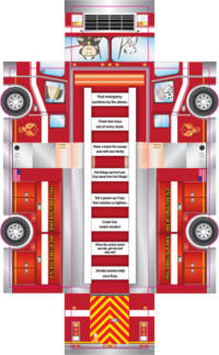FREE Kids Firetruck Foldup Activity Sheet